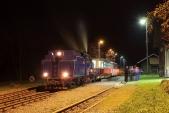Konečná stanice Osoblaha po příjezdu prezidentského vlaku.