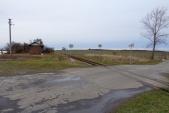 Zastávka Horní Povelice po demolici staniční budovy. Zůstal zde pouze dřevěný přístřešek.