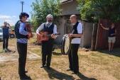 Staročeská kapela hrála během chvilky stání také ve Slezských Rudolticích