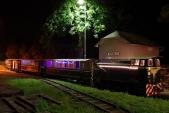 Souprava Strašidelného motorového vlaku s Faurem po návratu zpět do Třemešné