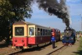 Křižování vlaků ČD a SZD ve Slezských Rudolticích