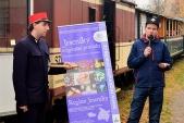Nezbytné proslovy ze strany provozovatele parních vlaků, ...