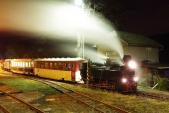 Posun se soupravou Mikulášského vlaku v Třemešné ve Slezsku.