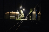 Noční idylka s parním vlakem ve staničce Slezské Rudoltice.