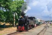 Druhý parní vlak, s bouří v zádech, právě dorazil do Slezských Rudoltic.