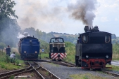 Nezvyklé setkání všech tří lokomotiv SZD v Osoblaze.