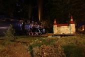 Hrádek před osoblažským depem společně s lokomotivou U57.001.
