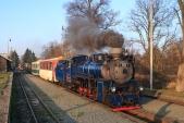 Martinský vlak před odjezdem z Osoblahy do Bohušova a dále do Třemešné.