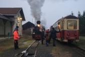 Tradiční křižování mikulášského vlaku s osobním vlakem v Liptani uzavírá veleúspěšnou sezónu 2018.