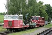 Místo, kde bylo možné lokomotivu č. 17 vídat posledních 5 let. Kolej 4u v dopravně Třemešná ve Slezsku ve společnosti vozíku MUV69, 18.5.2013.