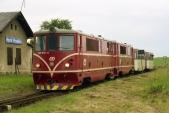 Přípřež lokomotiv 705 916 a 917 v Horních Povelicích 26.6.2004.
