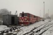 Posun s lokomotivami 705 917 a 913 u tankovací stanice v Třemešné.