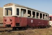 Poslední chvíle vozu Balm/ú 669 (Btu 908) při jeho šrotaci v Třemešné ve Slezsku v březnu 2012