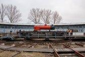 Kotel na točně bývalého krnovského depa. V Rotundě bude čekat, až se dokončí pojezd lokomotivy.