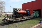 Složená lokomotiva poprvé na denním světle.