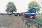 Faur ve svém původním působišti. CK-Lyd2-01 s vlakem cukrové řepy z Małej Wsi do cukrovaru Kruszwica v listopadu 1999.