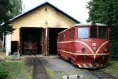 Depo v Osoblaze s lokomotivami 705 914 a 916, 21.6.2008