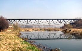 most přes řeku Osoblahu u Raclawic