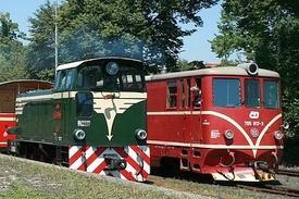 lokomotivy TU38.001 a 705 917 v Osoblaze