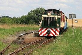 nejkratší kolej s lokomotivou TU38.001